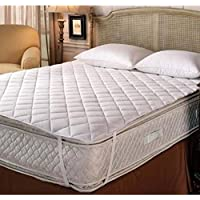 Rajasthan Crafts Double Bed Quilted Mattress Protector Hotel Quality (Cotton, 72 x 78) Dust Proof and Water Resistant