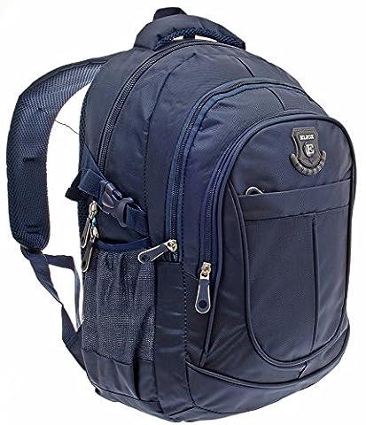 Schultasche Schulrucksack Schulmappe Schultasche Rucksack SCHUL RANZEN FREIZEIT SPORT REISE (blau)
