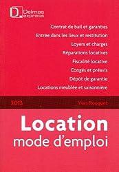 Location mode d'emploi 2013