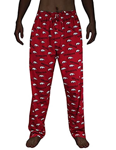 NCAA Mens Arkansas Razorbacks Cotton Sleepwear / Pajama Pants M Multicolor