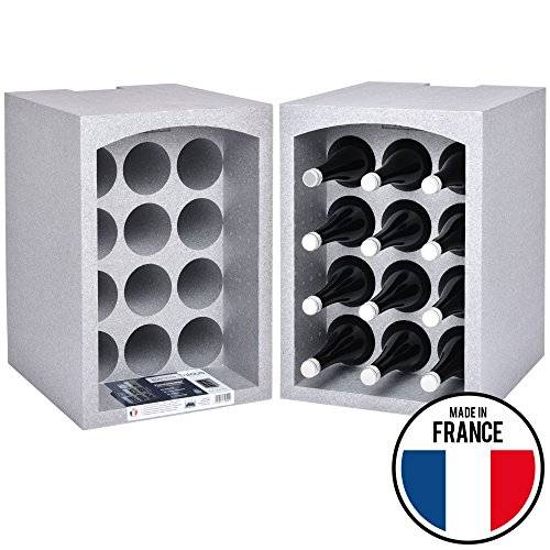 Talous BuonVino Weinregal - 2er Set Flaschenregal stapelbar Styropor 24 Flaschen - Flaschenkiste...