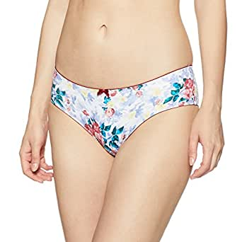 Amante Women's Floral Print Hipster Brief