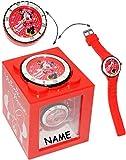 """4 in 1 - """" Disney Minnie Mouse """" - incl. Name - Armbanduhr wasserdicht & Wecker & Spardose & Fotorahmen - 3-D Effekt Motiv - Analog - passend für Kinder & Erwachsene - Kinderuhr / Lernuhr - Kunststoff Armband - für Mädchen - Analoguhr - Uhr Quarz - Quarzuhr / Kinder-Armbanduhr Silikonarmband - Mädchenarmbanduhr / Kinderarmbanduhr / Kunststoff Plastik - Sparbüchse - Sparschwein - Playhouse Maus / Mäuse"""