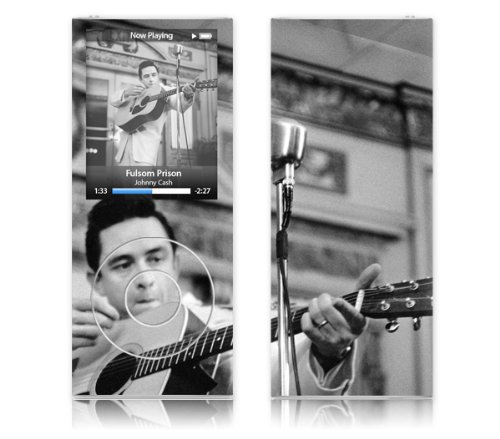 MusicSkins - Film de protection en hommage ? Johnny Cash Guitar - Apple iPod nano 4th generation