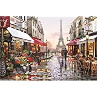 1000 Piece Space Traveler Puzzles Paper Planets Spacecraft in Space Jigsaw Puzzle for Adult Kids (Paris Flower Street)