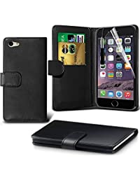 iPhone 6/6s Case, DN-Alive Wallet - Book Case, Flip Case Flexible PU Premium Leather [Black] [Card Holder] iPhone 6/6s Cover - Id Holder [Drop Resistance] [Scratch Resistant] [Shockproof] Case For iPhone 6/6s