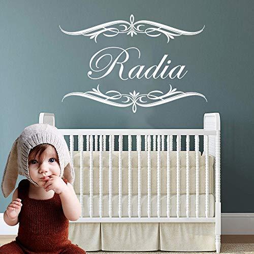 WWYJN Personalisierte Benutzerdefinierte Kinder Name Vinyl Wandaufkleber Für Babys Zimmer Dekoration Wandtattoos Tür Aufkleber Schlafzimmer Dekor Tapete weiß S 30 cm X 19 cm (Wandtattoo Namen Monkey)
