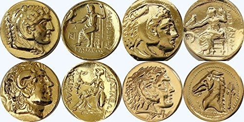 Imperio romano, Marc Antony & Cleopatra, moneda colgante y cadena, más famoso Romance, (# 3penchain-g)