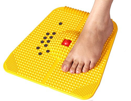 Super India Store Super INDIA Store Acupressure Power Mat with Magnets n Pyramids for Pain Relief & Total Health Care Useful for Heel Pain Knee Pain Leg Pain Sciatica Cramps Migraine Depression