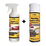 WILPEG Reinigung & Imprägnier-Set für Teppich & Polster - Imprägnierung + Reiniger