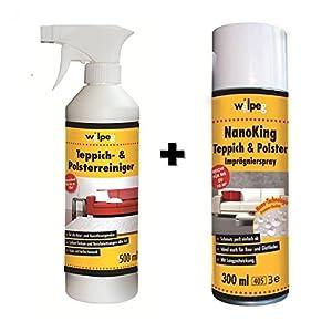 WILPEG Reinigung & Imprägnier-Set für Teppich & Polster – Imprägnierung + Reiniger