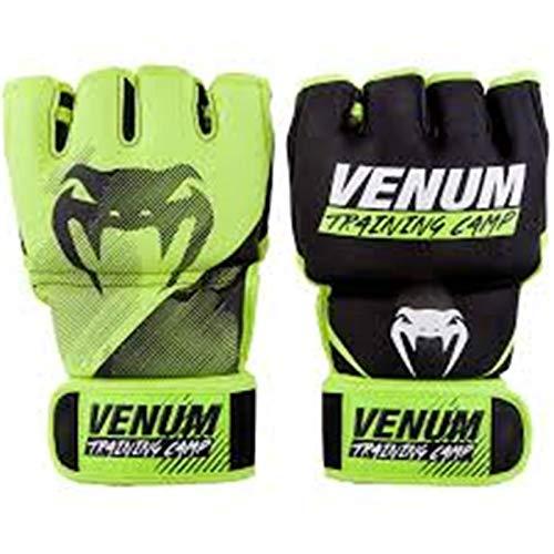 Venum Vtc 2.0, Guantoni da MMA Unisex Adulto, Nero/Giallo Neon, L/XL