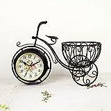 Arte Hierro Forjado De Silencio Creativo Reloj Pastoral De La Bicicleta De La Decoración De Escritorio,CoffeeColor - SAPEOO - amazon.es