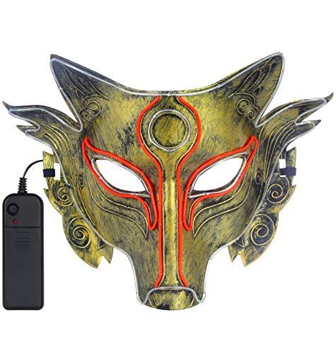 YOU LOOK UGLY TODAY LED Leuchtende Maske, Gruselig Halloween LED Maske Scary Maske für Halloween Party Festival Kostüm Cosplay