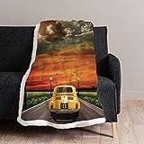 Coperta 500 Vintage 1 piazza - 130 x 160 cm – coperta in pile digitale - coperta calda per l'inverno