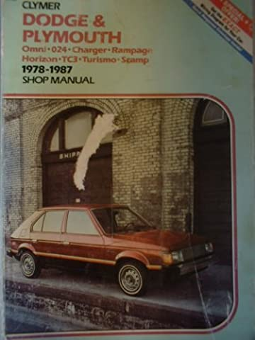 Dodge & Plymouth Omni-024-Charger-Rampage Horizon-Tc3-Turismo-Scamp 1978-1987 Shop Manual (Plymouth Turismo)