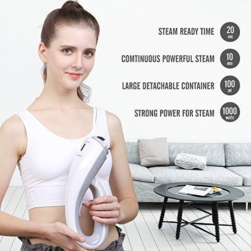 OXA Plancha Vertical de ropa ultracompacto de 1000W  Mini Cepillo de vapor de mano  Vaporizadora súper rápida en 20s con 2 pinceles  plancha de vapor para ropa portátil   y perfecto para usar en viajes y en el hogar