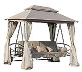 FoxHunter Garden Swing hamaca 3-4 plazas banco de muebles cama silla...