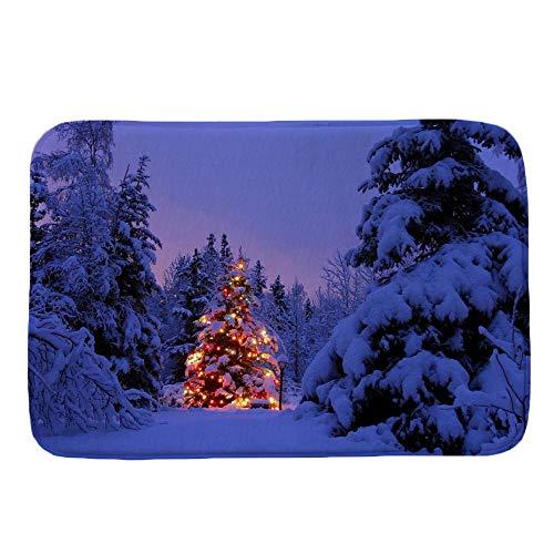 gaddrt Frohe Frohe Weihnachten Willkommen Fußmatten Indoor Home Teppiche Decor 40x60CM (G)