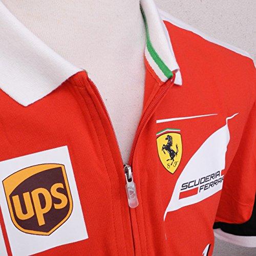 PUMA Herren Shirt SF Team Polo Rosso Corsa