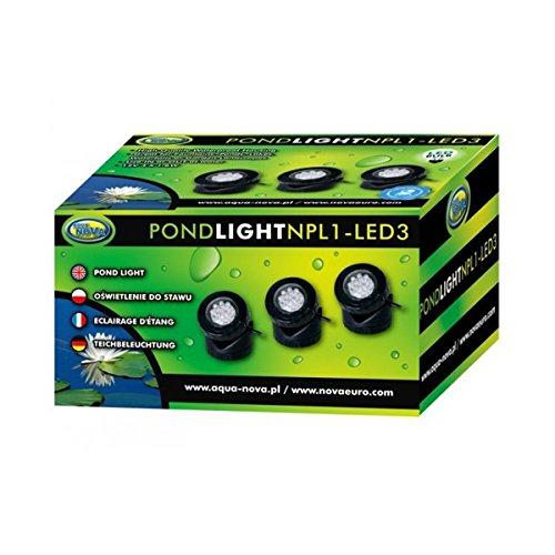 Teichleuchte LED 3er-Pack; Unterwasserleuchte -
