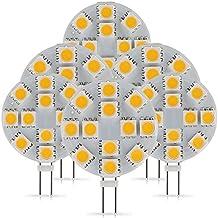 Sansun iluminación 1,5W bombillas halógenas G4de bombillas LED, 20W, equivalente a 12vac, 160lm, luz blanca cálida, 3000K, Bi-Pin–Bombilla de luz, bombillas LED (6pack)
