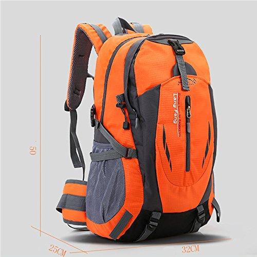 Minetom 55L Bag Impermeabilegrande Capacità Zaino Ciclismo Campeggio Viaggio Pack Trekking Escursionismo Montagna Alpinismo Nero