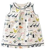 Kaily Mädchen Sommer Baumwolle Ärmellos Süß Dress T-Shirt Kleid(S0136,3T)