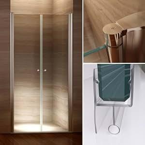 115 cm - réglable de 112 à 116 cm, cabine de douche, portes de douche en verre de sécurité 6 mm avec revêtement nano, prix de lancement
