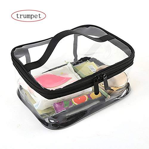 83f9689b533d HGJVBFGH1 Transparent PVC Cosmetic Makeup Bag Zipper Make Up Organizer  Storage Pouch Transparent S
