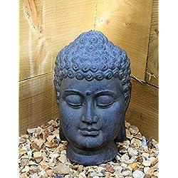 Cabeza de Buda, escultura decorativa, piedra cerámica