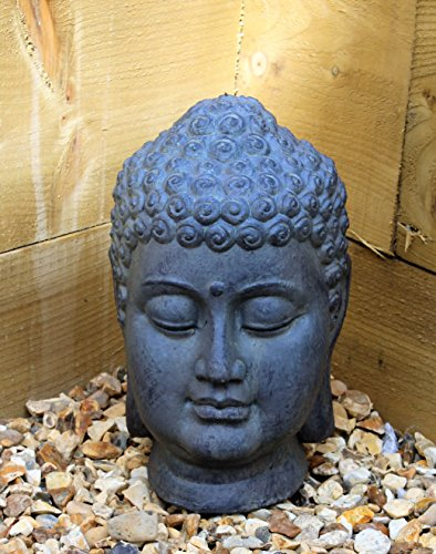 Buddha head, decorative sculpture, ceramic stone