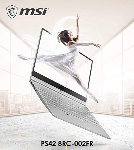 PC Ultrabook - MSI PS42 8RC-002FR - 14' FHD - i7-8550U - RAM 8Go - Stockage 512Go SSD - GTX 1050 4Go - Windows 10