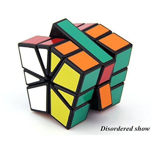 EasyGame - Shengshou SQ1 SQUARE-1 Speed Cube SQ-1 Speed Cube Formas irregulares Rompecabezas Black (Nivel de dificultad 7 de 9) (Negro)