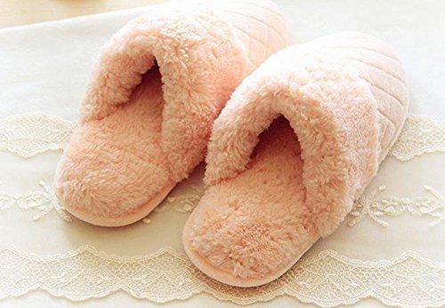 HH Chaussures de dessin animé mignon accueil chaleureux en hiver amoureux chaussures chaussures Indoor de la parole. chaussures Pink