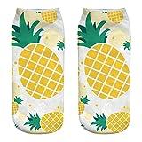 Amphia Socken - Nette Arbeit Cotton Socks 3D Obst Wassermelone Ananas Print Medium Sportsocken