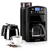 Klarstein Aromatica Kaffeemaschine • Filtermaschine • integrierter Aktivkohlefilter • Glaskanne und Thermoskanne • Timer • bis 10 Tassen • Permanentfilter • schwarz