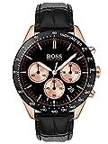 Hugo Boss Mixte Chronographe Quartz Montres bracelet avec bracelet en Cuir - 1513580