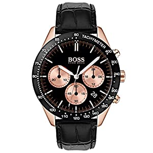 Hugo BOSS Reloj Cronógrafo para Hombre de Cuarzo con Correa en Cuero 1513580