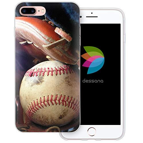 dessana Baseball Transparente Schutzhülle Handy Case Cover Tasche für Apple iPhone 8 Plus Baseball Training Mlb Baseball-handy