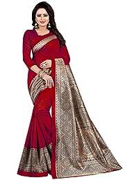 VJ Fashion Art Silk/Blended Mysore Silk Printed Women's Saree
