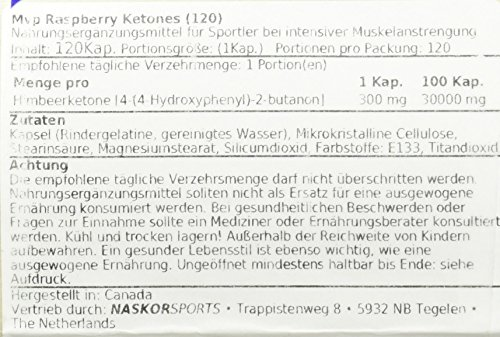 Mvp Raspberry Ketones 100 Kapseln