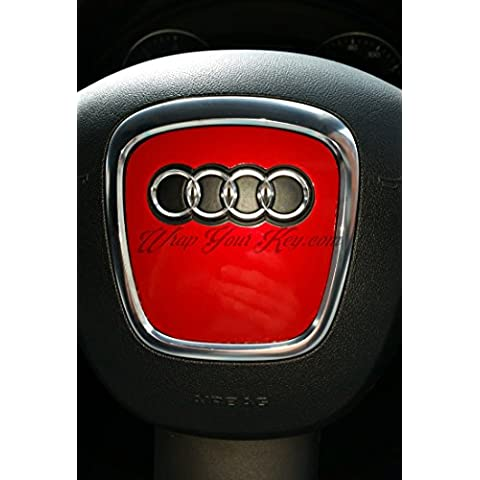 Fiery Airbag in metallo rosso VOLANTE, S RS A1A3, A4, A5, A6, A8TT Q3Q5Q7