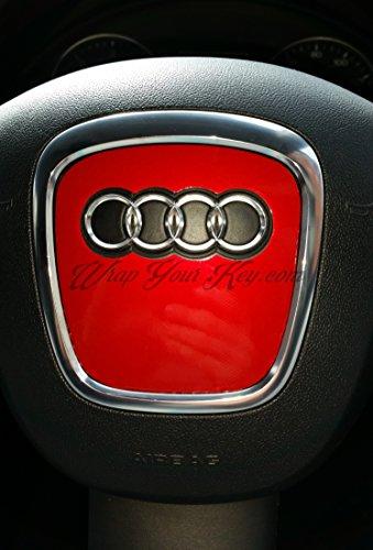 Fiery metal rojo Airbag Volante Wrap S RS A1A3A4A5A6A8TT Q3Q5Q7
