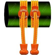 CORDONES DE GOLF AKTIVX (Para Zapatos de Golf sin Cordones) Elegido el Regalo de Golf nº1 de 2016 – El Mejor Accesorio Para Golfistas – Recambio de Cordones y Equipamiento de Golf, Color Naranja