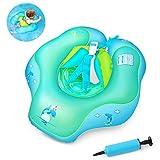 Flotadores para bebés,Waitiee Inflable de Piscina Nadar Anillo para Bebe,Flotador ajustable inflable para bebé de tres meses a 6 años de edad (S)