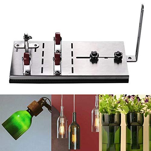 JoyFan Glasflaschenschneider Kit DIY Werkzeug Edelstahl Verstellbarer Flaschenschneider für Weinflaschen Bier Flaschen edelstahl -