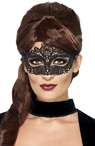 Smiffys Schottland-44282Kostüm-Erwachsene-Maske, Schwarz, Einheitsgröße