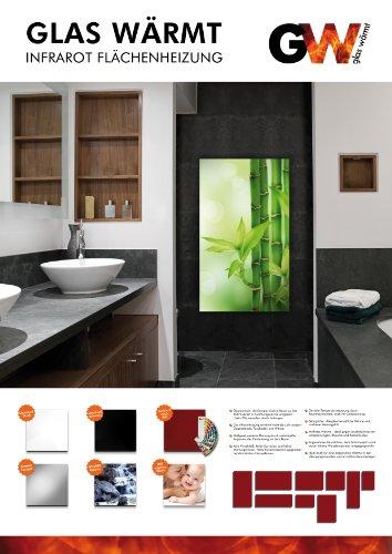 Infrarotheizung Infrarot 300 Watt Metall-Premium Wand & Deckenmontage Weiss Glaswärmt Infrarotheizung