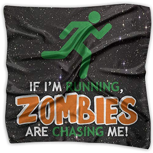 If I'm Running, Zombies Fashion Women's Square Scarf Neckerchief Headdress